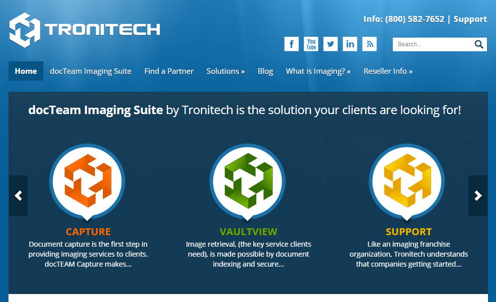 Tronitech homepage