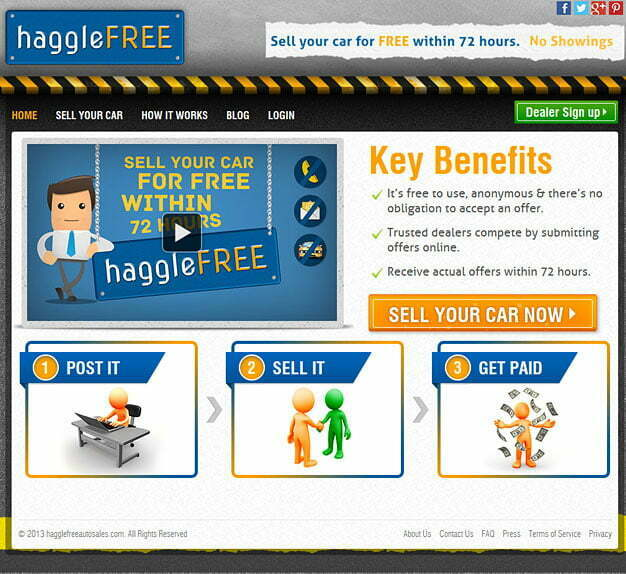 pulse builds haggle free auto sales which offers a user friendly auction site for selling. Black Bedroom Furniture Sets. Home Design Ideas