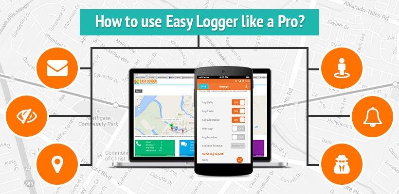 Easy logger Pro, phone tracker, call logger, texts logger