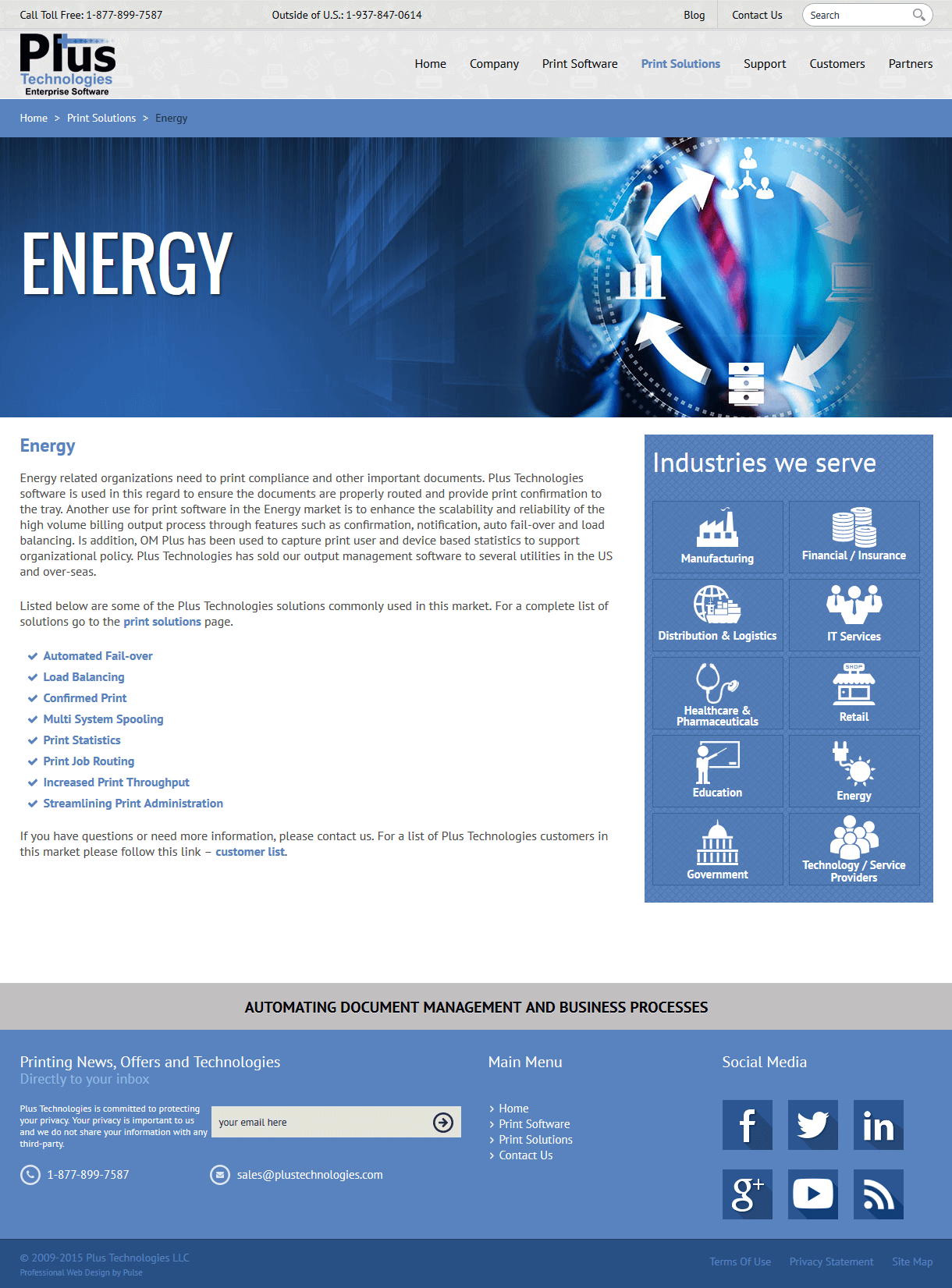 Print Software in Energy Market