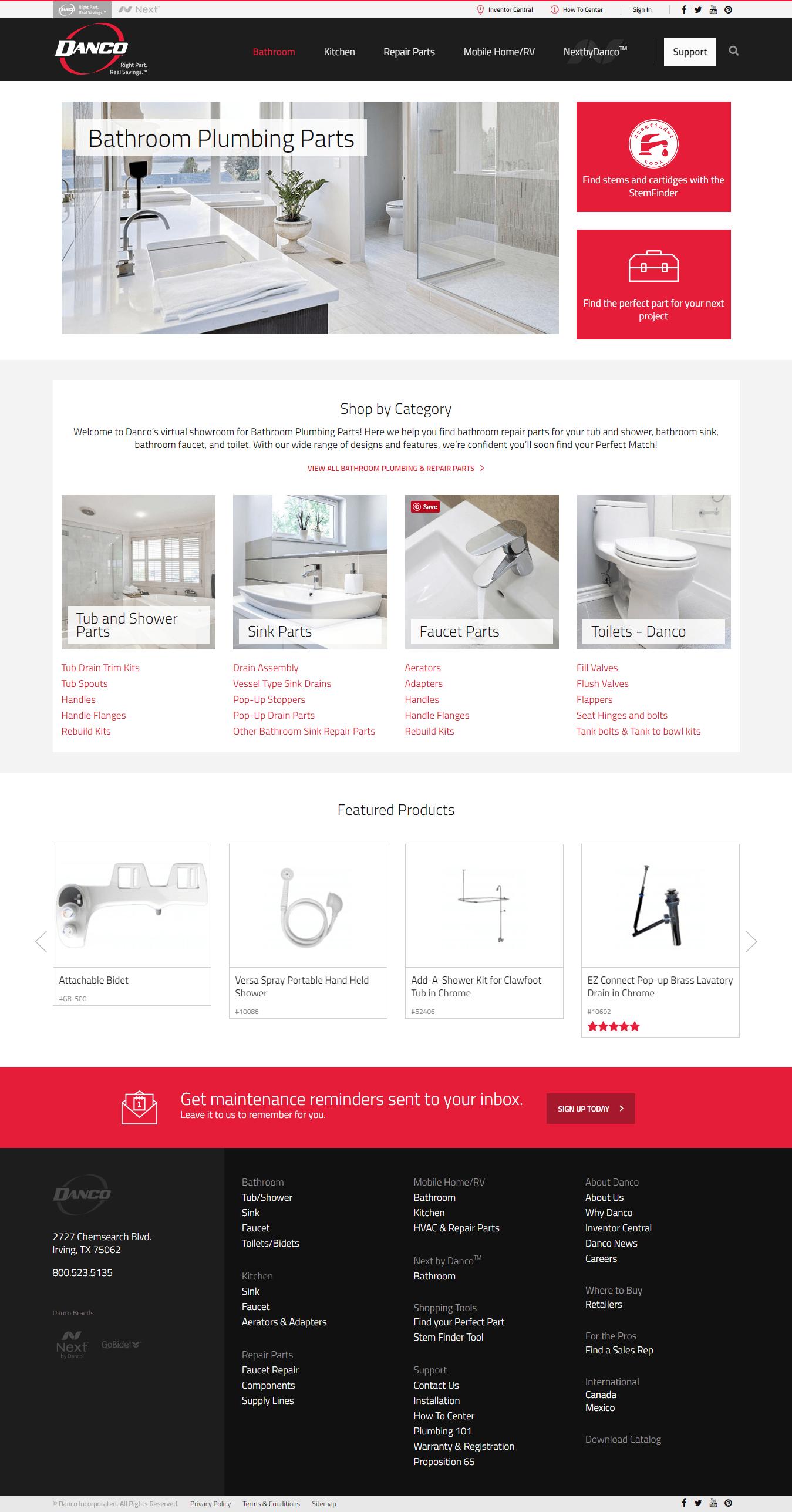 Bathroom plumbing parts online Bathroom Danco