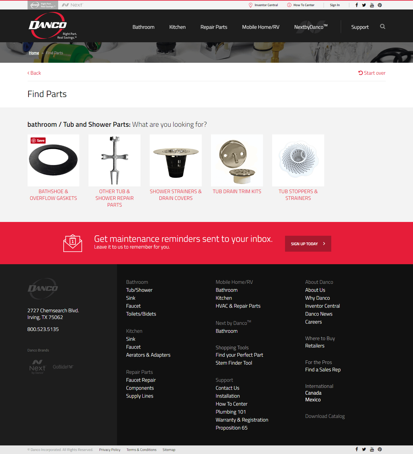 Find your perfect plumbing part with Danco3