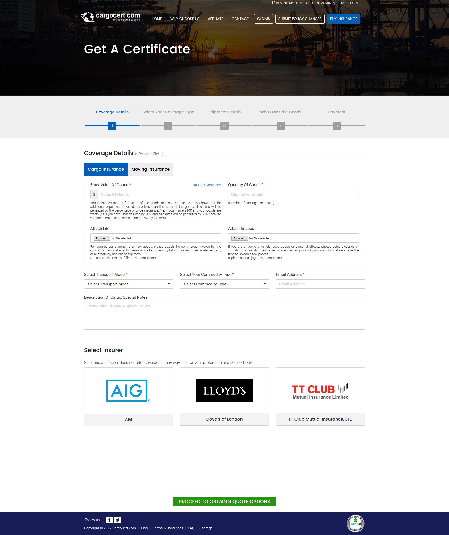 Get a certificate