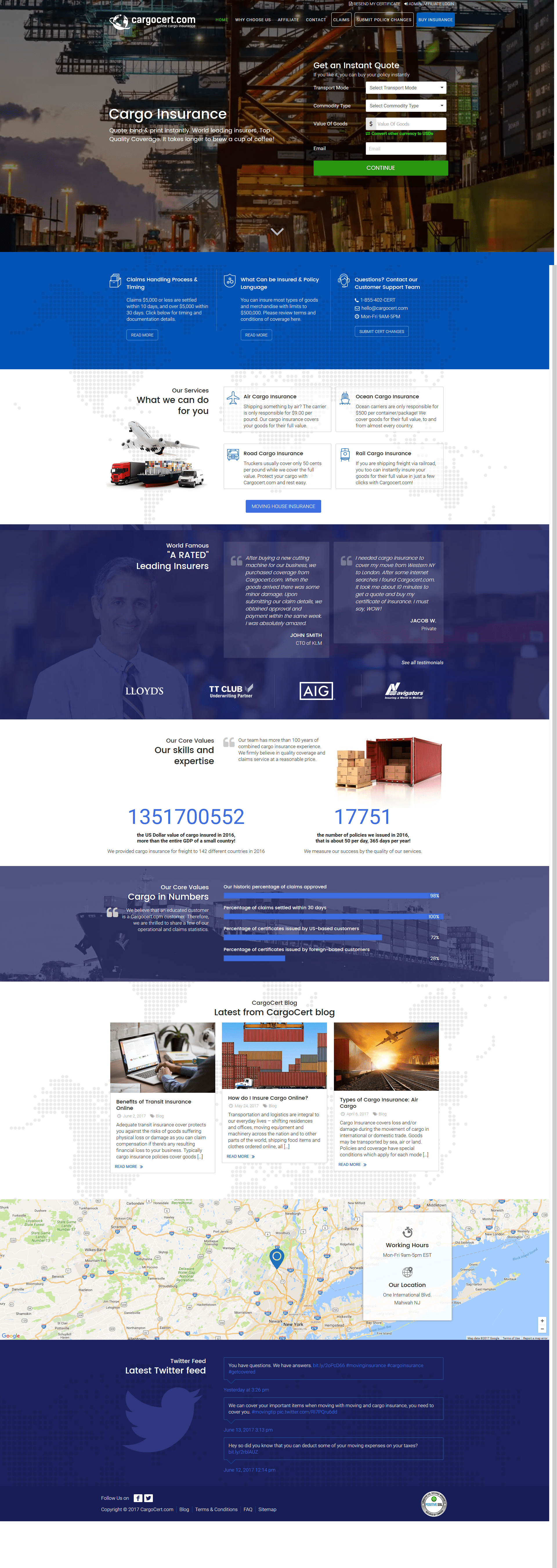 Cargocert Home Page