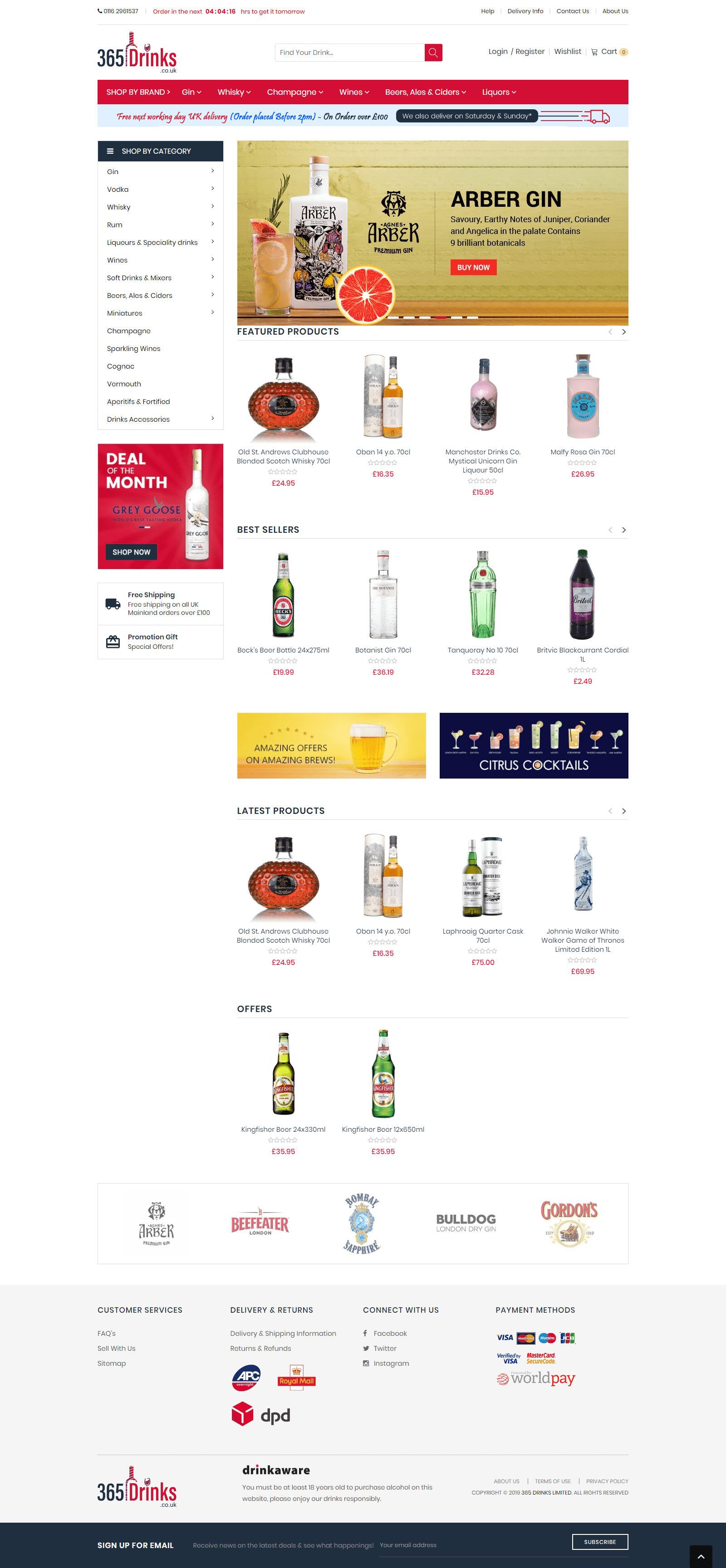 365 Drinks Responsive Ecommerce Website Development By Pulse Solutions