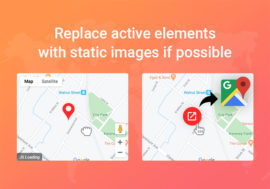 Use static images