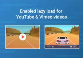Enable lazy load for videos